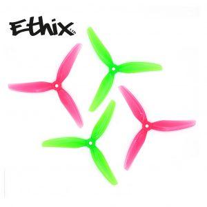 hq ethix s5 v3 props 5inch product watermelon green pink mantisfpv 1