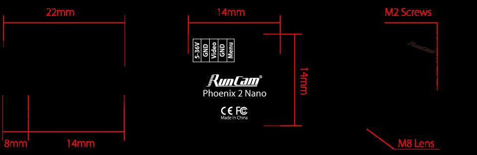 runcam phoenix 2 nano branding product fpv showcase specs mantisfpv