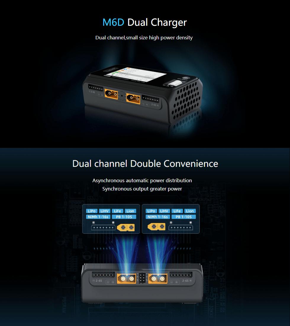 toolkitrc m6d 500w 15a dual charger desc1 mantisfpv