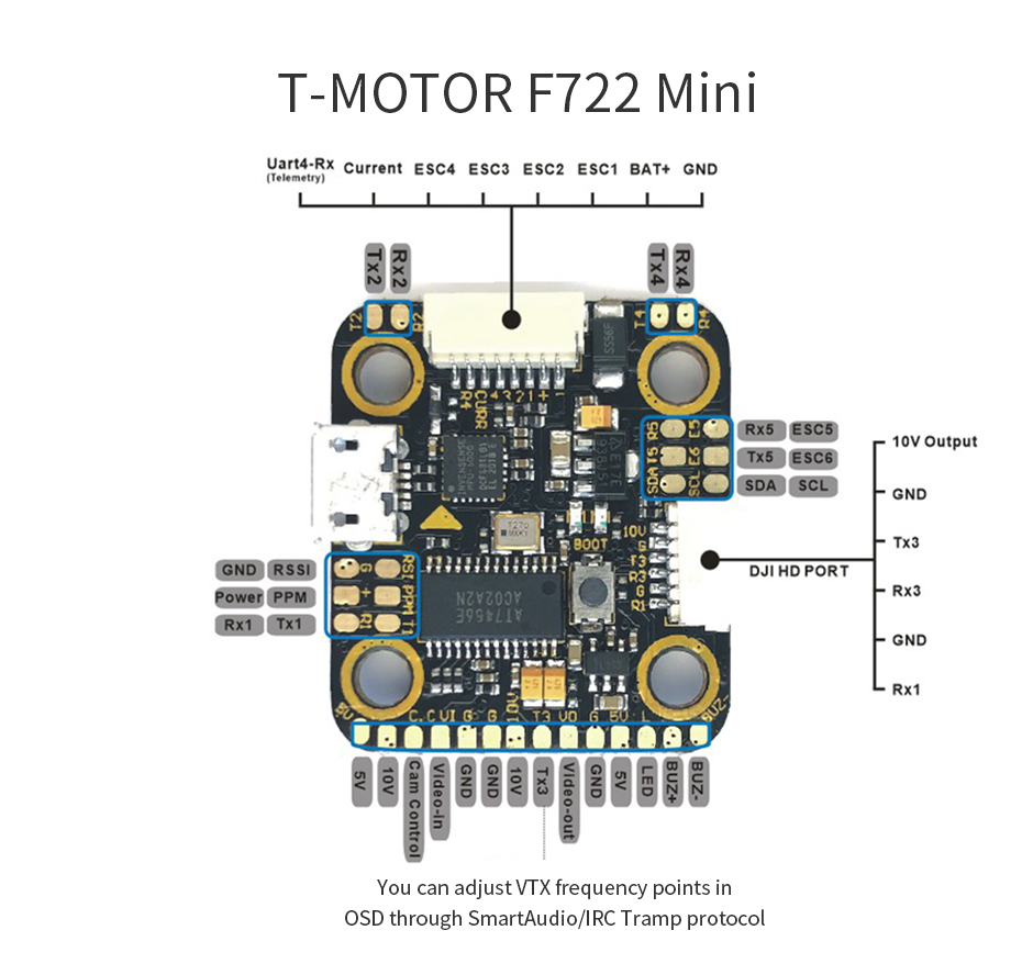 T Motor mini fc uart mantisfpv