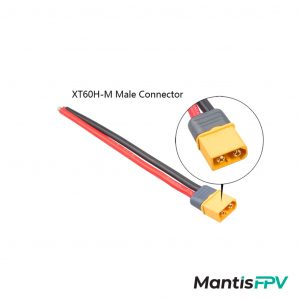 XT60 Male Connector 150mm 12AWG Silicon Wire