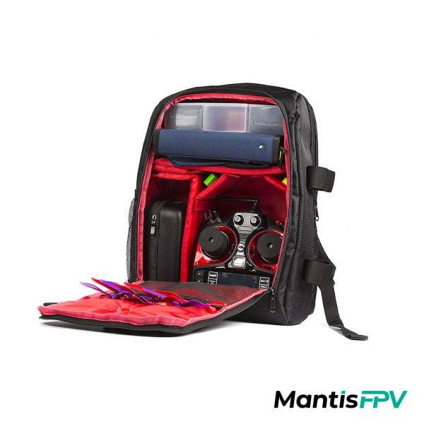 FPV Quad Essentials Backpack Australia laptop dji sleeve Product Red MantisFPV
