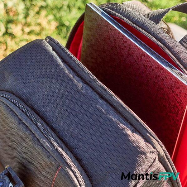 FPV Quad Essentials Backpack Australia laptop sleeve Product Red MantisFPV