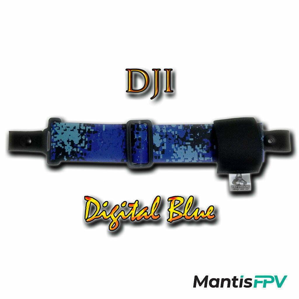 FatStraps digital blue DJI FPV Goggles Head Strap Australia MantisFPV product