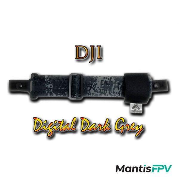 FatStraps digital dark grey DJI FPV Goggles Head Strap Australia product MantisFPV