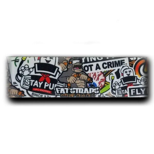 FatStraps sticker Bomb DJI FPV Goggles Head Strap Australia MantisFPV 2