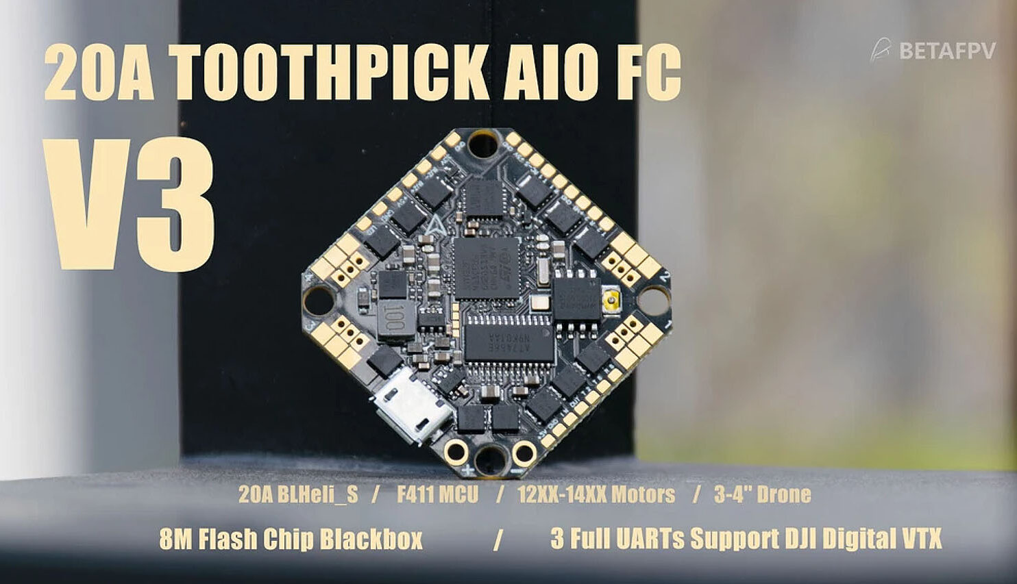 BetaFPV Toothpick F4 2 6S AIO Brushless Flight Controller Banner 20A V3 MantisFPV e1602573827379