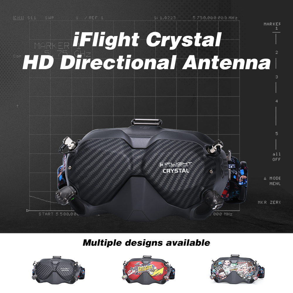 iflight crystal hd patch directional antenna for dji fpv goggles product mantisfpv