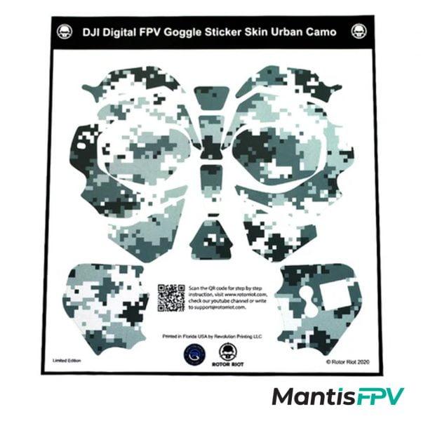 rotor riot dji fpv goggles skin wrap australia mantisfpv