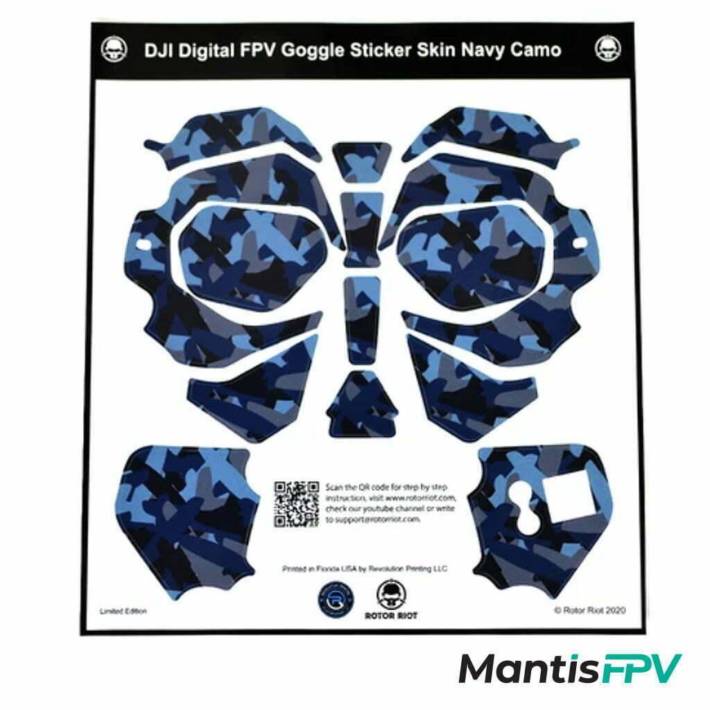 rotor riot dji fpv goggles skin wrap mantisfpv