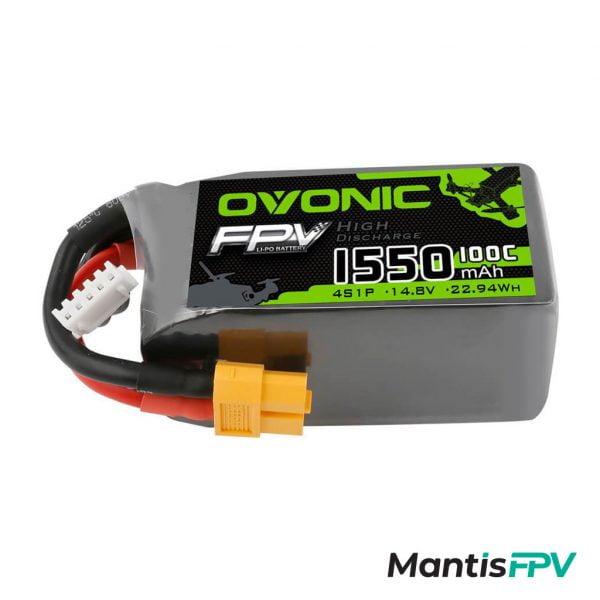 Ovonic 1550mAh 4S 14.8V 100C LiPo Battery