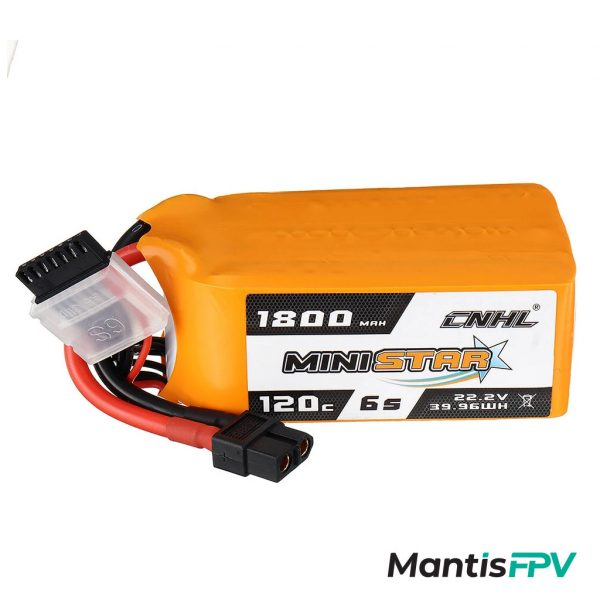chinahobbyline 1800mah 120c 6s lipo battery mantisfpv