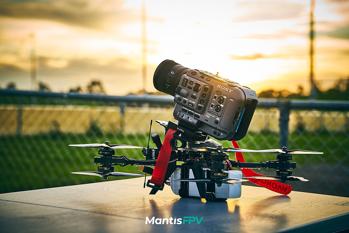 custom built fpv drone sony FX6