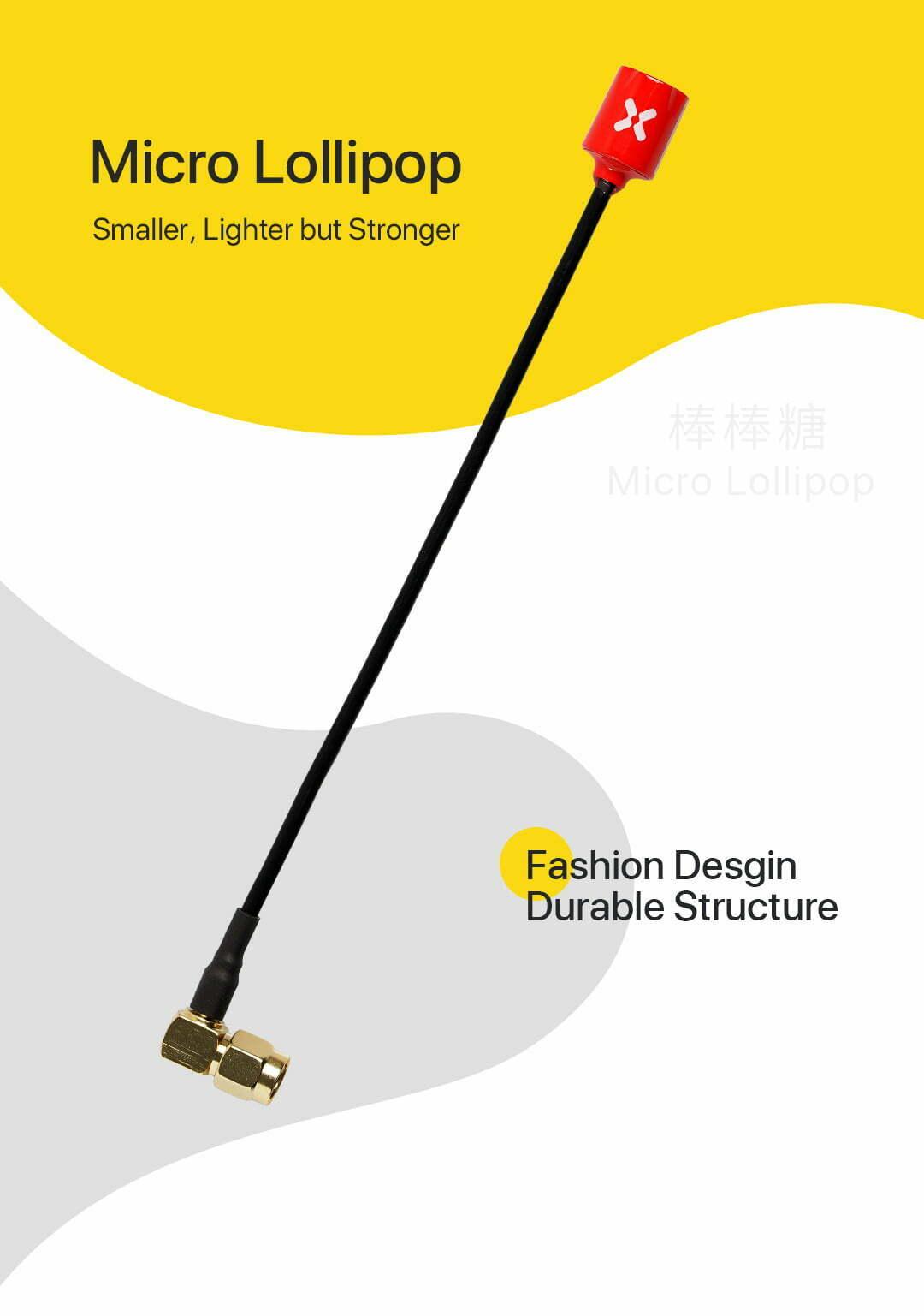 foxeer micro lollipop 15cm 5 8g omni angle sma rhcp antenna for goggles australia mantisfpv