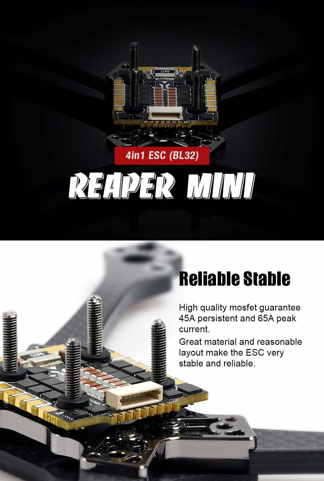 foxeer reaper mini 4in1 bl32 45a esc description mantisfpv