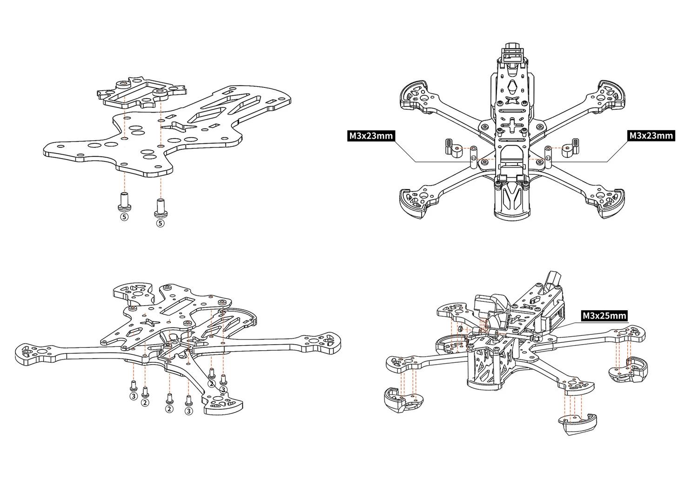 HGLRC Sector 5 6 7 mantisfpv build