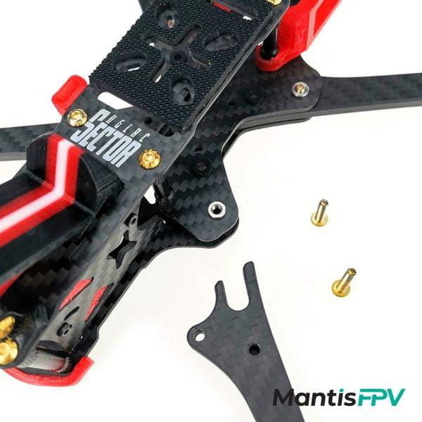 hglrc sector 5 6 7 v3 hd freestyle 3k carbon fiber frame kit bottom australia mantisfpv build