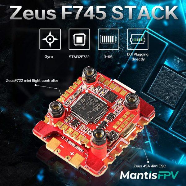 hglrc zeus f745 racing stack hd f722 mini fc 45a mantisfpv