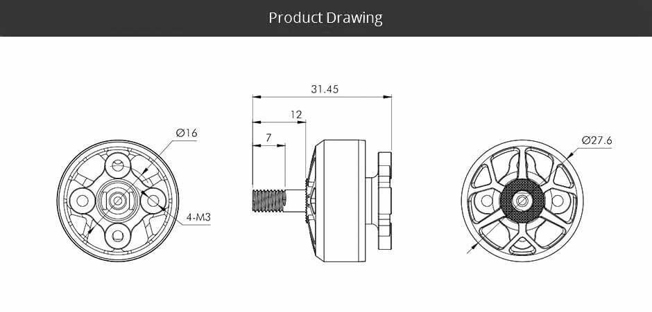 t motor v2208 v2 motor 1950kv description information mantisfpv