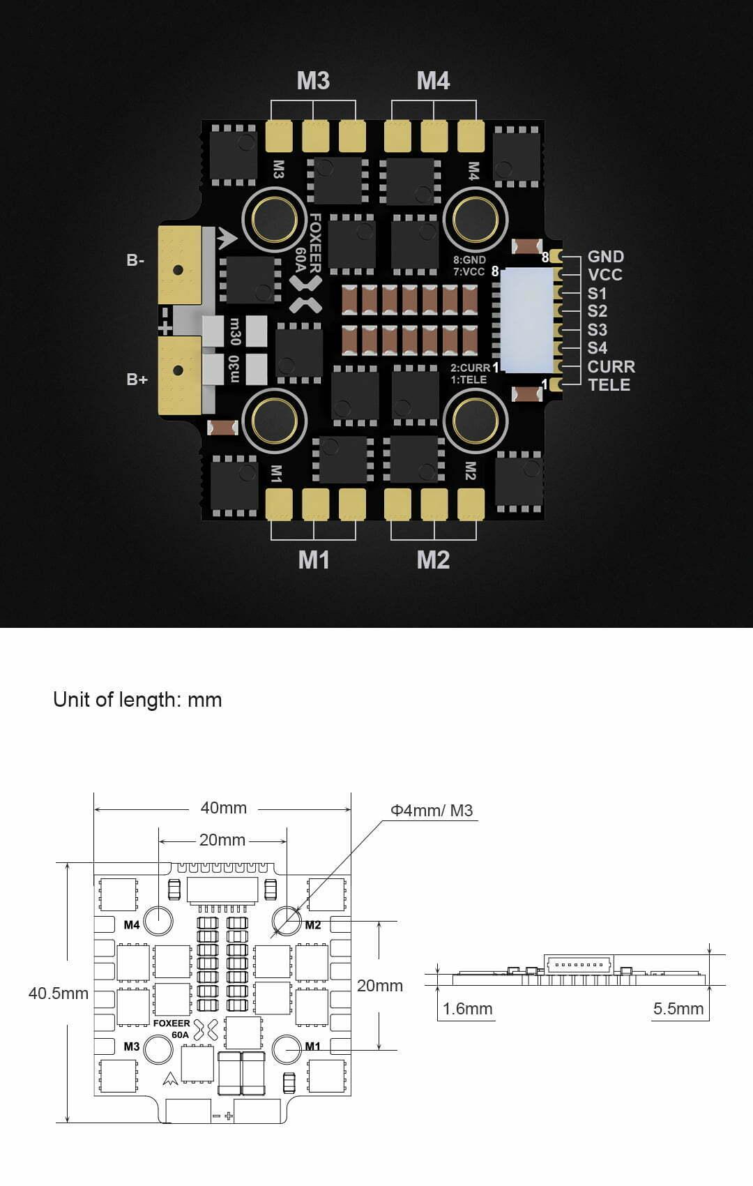 foxeer reaper mini 4in1 bl32 60a esc product descriptiob australia mantisfpv desync