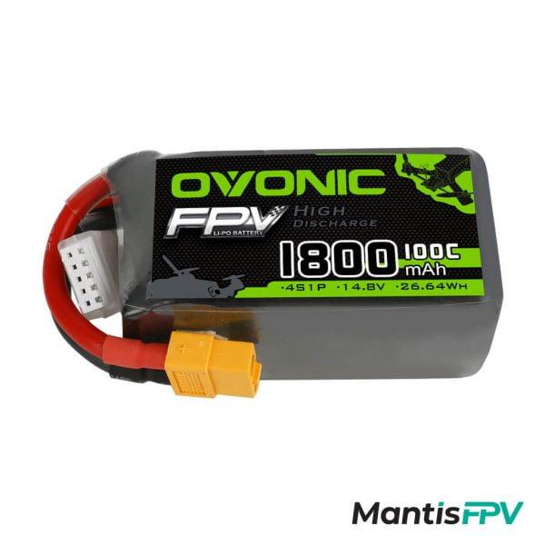 ovonic 100c 4s 1800mah 14 8v lipo battery australia mantisfpv