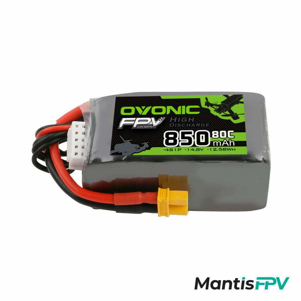 ovonic 14 8v 80c 850mah 4s australia lipo battery size mantisfpv