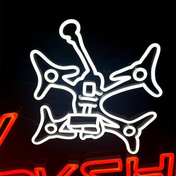 Mantisfpv custom led neon sign FPV workshop australia