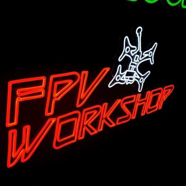 Mantisfpv custom led neon sign product FPV workshop australia