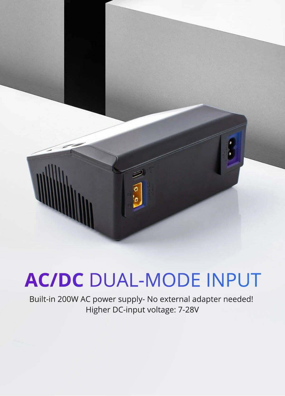 ToolkitRC M6DAC Dual Smart Charger DC 700W AC 200W description dual mode