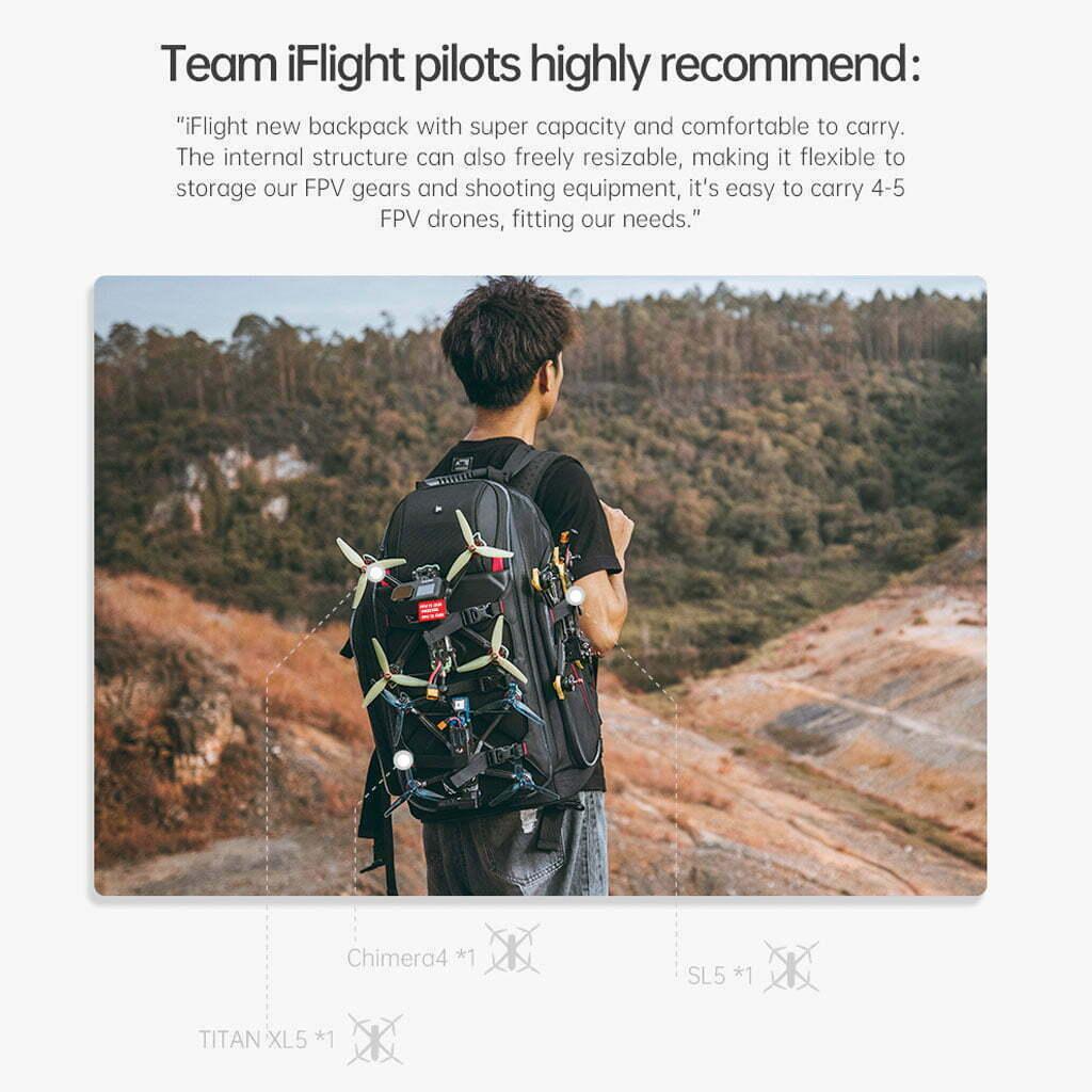 iflight fpv drone backpack mantisfpv size