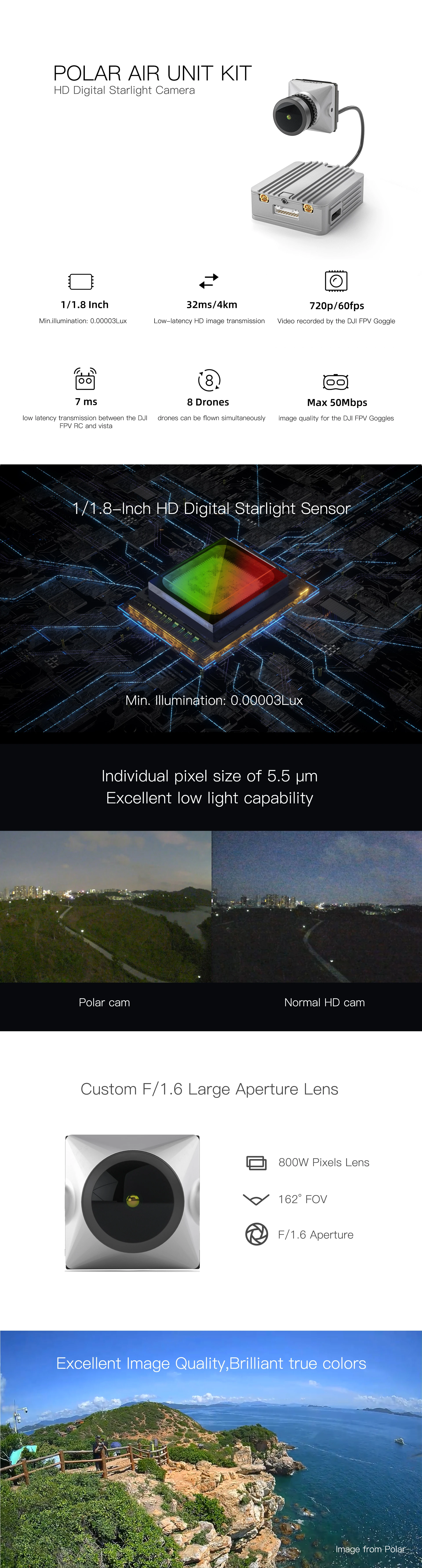 caddx vista kit polar starlight digital hd fpv system mantisfpv camera