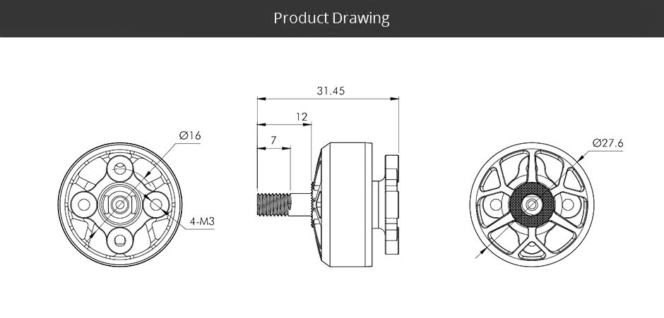 t motor velox veloce v2306 5 v2 motor 1950kv description 3