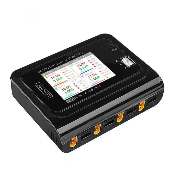 toolkitrc m4q quad smart charger dc 200w ac 100w product mantisfpv australia